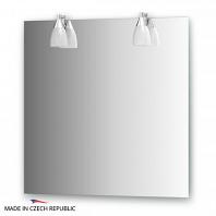 Зеркало со светильниками Ellux Romance 75х75см