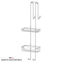 Штанга с полочками-решетками FBS Ryna для душевой кабины