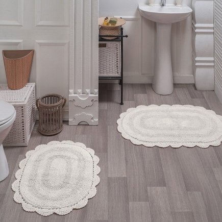 Набор ковриков для ванной кружевной Sofi de Marko Bath Mats Diana S.044крем