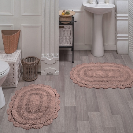 Набор ковриков для ванной кружевной Sofi de Marko Bath Mats Diana S.044пудра