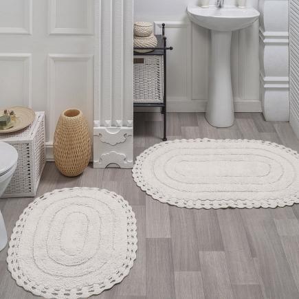 Набор ковриков для ванной кружевной Sofi de Marko Bath Mats Yana S.046крем