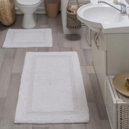 Набор ковриков для ванной кружевной Sofi de Marko Bath Mats Karla S.047бел