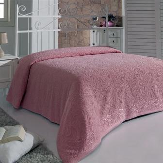 ESRA (розовая) Простынь Махровая Sofi de Marko Plaids 200х220см S.078 роз