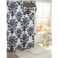 Шторка Carnation Home Fashions Beacon Hill Black/White
