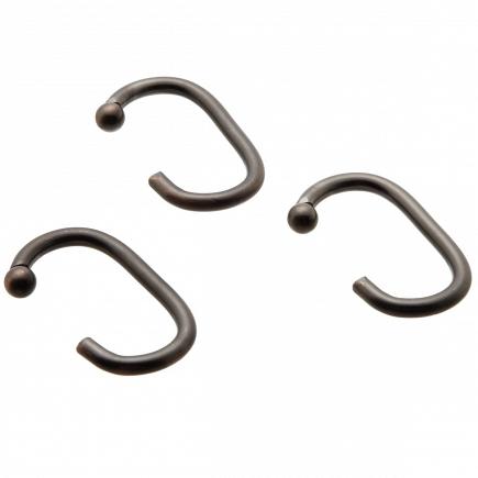 Набор из 12 крючков для шторки Carnation Home Fashions Hook C Type Bronze SLM-C/67