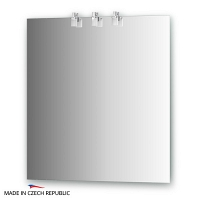 Зеркало со светильниками Ellux Sonet 70х75см