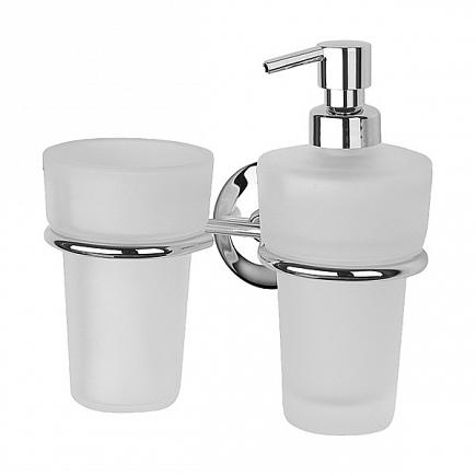 Держатель для стакана и дозатора для жидкого мыла FBS Standard STA 008