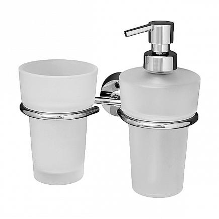 Держатель для стакана и дозатора для жидкого мыла FBS Vizovice VIZ 008