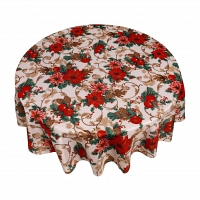 Кухонная скатерть 152х213 см Carnation Home Fashions Tablecloths Christmas Floral