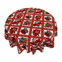 Кухонная скатерть круглая 178 см Carnation Home Fashions Tablecloths Christmas Floral