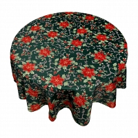 Кухонная скатерть круглая 178 см Carnation Home Fashions Tablecloths Poinsettia