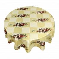 Кухонная скатерть круглая 178 см Carnation Home Fashions Tablecloths Yoletide