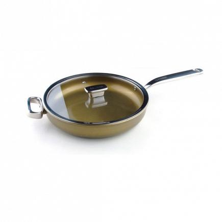 Глубокая сковорода c крышкой (стекло) Zanussi Capri 28см ZCU51231DF