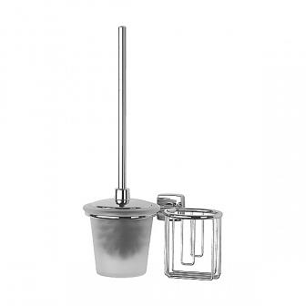 Ершик для туалета FBS Esperado с крышкой и держателем освежителя ESP 059