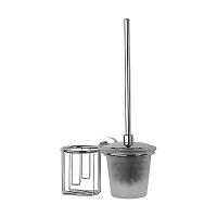 Ершик для туалета FBS Nostalgy с крышкой и держателем освежителя